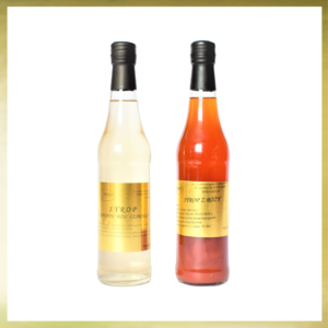 Butelki z syropami owocowymi